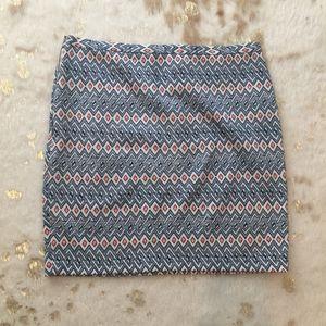 Patterned Stretch Miniskirt